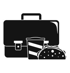 bag cola cheesburger icon simple style vector image