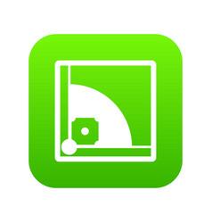 baseball field icon digital green vector image