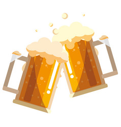 beer mug glass design vector image
