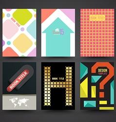 brochure cover template design set vector image