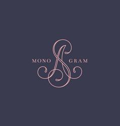 Calligraphic monogram sa vector