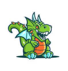 cartoon cute dragon vector image