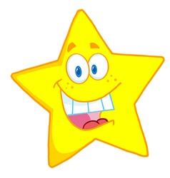 Cheerful yellow star vector