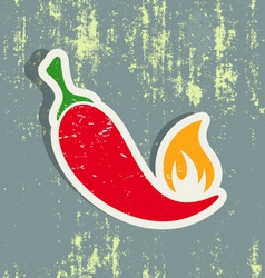 Chilli pepper label vector