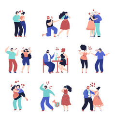 conflict relationship people violence unhappy vector image