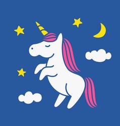 Cute magic unicorn vector