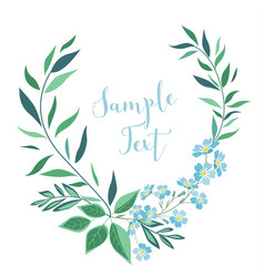 Decoration leaves and flowers vector
