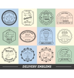 Delivery emblems set vector