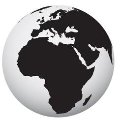 earth icon black vector image