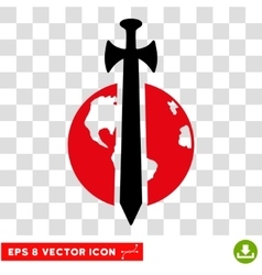 Earth Military Protection Eps Icon vector image