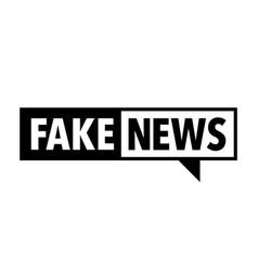fake news icon vector image