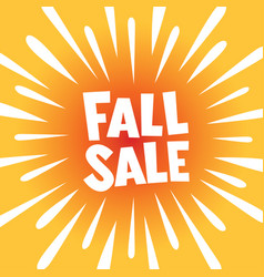 Fall sale banner poster vector