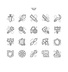 Fantasy weapons well-crafted pixel perfect vector