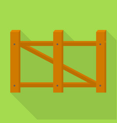 farm barrier icon flat style vector image