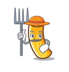 Farmer tortiglioni pasta character cartoon vector