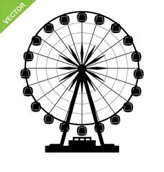 Ferris wheel silhouettes vector image