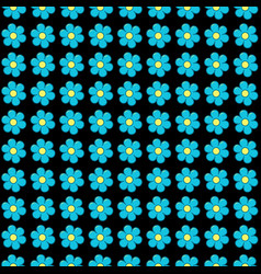 forget me not flowers in rows seamless vector image