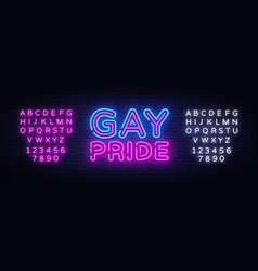 gay pride neon sign lgbt design template vector image