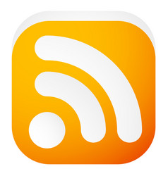 generic signal or rss feed icon symbol for vector image