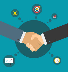 Handshake of business partners successful deal vector