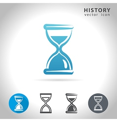 history blue icon vector image