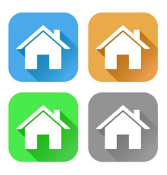 home icons set of colored signs vector image