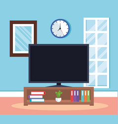 home place tv room scene vector image