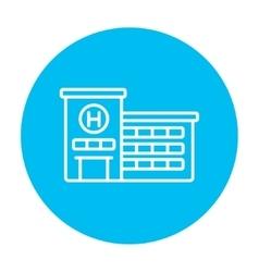 Hospital building line icon vector
