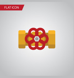 isolated flange flat icon pump valve vector image
