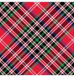 Kemp tartan fabric texture check diagonal pattern vector image