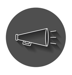 megaphone flat icon bullhorn symbol logo on black vector image