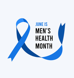 Mens health awareness month vector