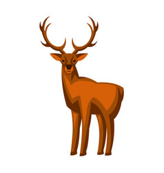 Merry christmas deer holiday icon vector