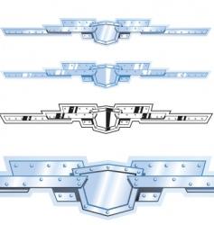metal border vector image