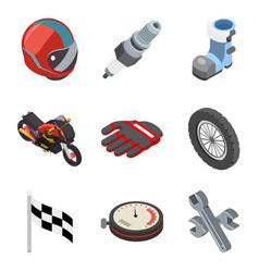 motocross race sport championship isometric vector image