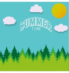 Nature - summer landscape in vector image