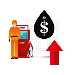 Oil and petroleum price theme vector