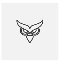 Owl eyes flat line modern logo design vector