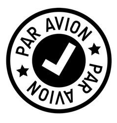 Par avion stamp on white vector