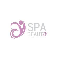 people beauty spa logo vector image