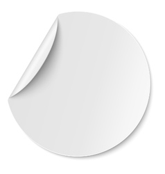 Round paper sticker placed on white vector image