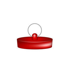 rubber plug in red design vector image