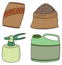 set of fertilizer vector image