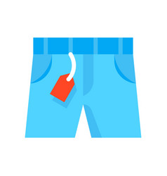 Shorts black friday related flat icon vector