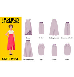 skirt vocabulary collections of standard classic vector image