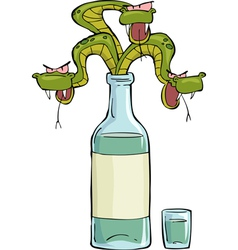 snake in the bottle vector image