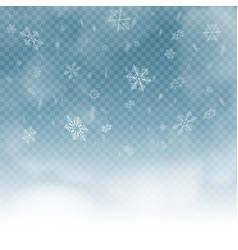 snowflakes on blue transparent background vector image
