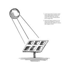 Solar-energy-sketch vector