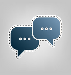 speech bubbles sign blue icon with vector image