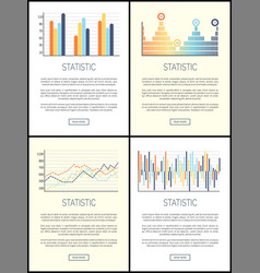 statistics flowcharts and infographics with text vector image